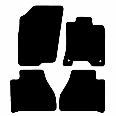 Nissan Navara 2016+ (NP300) Car Mats Fully Tailored Floor Carpets Black 4 Clips