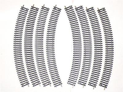 8x R605 HORNBY 1st  RAD RADIUS DOUBLE CURVE TRACK R 605 NICKEL SILVER FREE POST