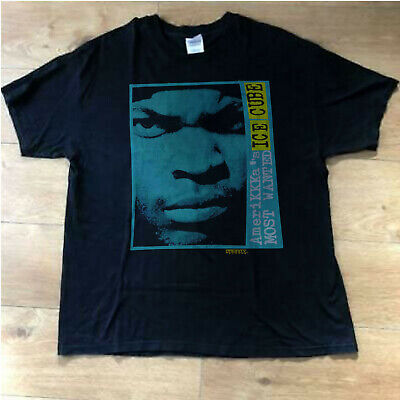 5d25ca8ce35f Vtg 1990 Ice Cube AmeriKKKas Most Wanted T-Shirt 90s Hip Hop Rap Tee NWA