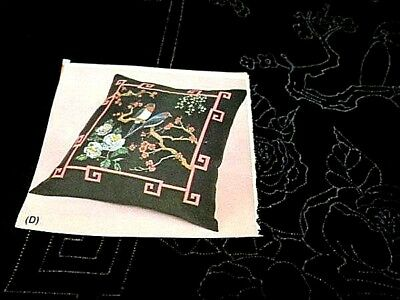 Oriental Birds Pillow Cover Tri-Chem To Paint/Embroider #7549-15 Inches/38 cm Sq