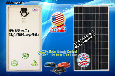 120w 160w MONO watt Solar Panel 12V Poly Off Grid Battery Charger for RV