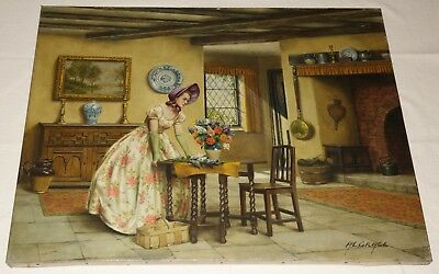 Original Oil on Canvas Painting. The Lilac Sun Bonnet by Alfred Lyndon Grace