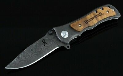 Outdoor knife Black edition Browning hunting knife EDC Folding Survival BR5