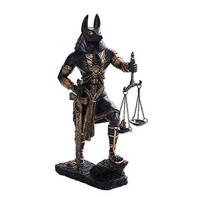 Ancient Egyptian Judgement of Anubis Black Gold Cast Bronze Collectible Figurine