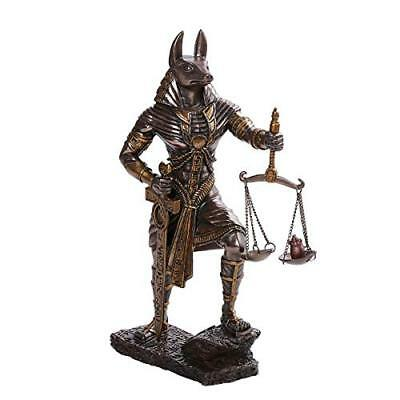 Ancient Egyptian God Anubis Judgement of Anubis Cast Bronze Collectible Figurine