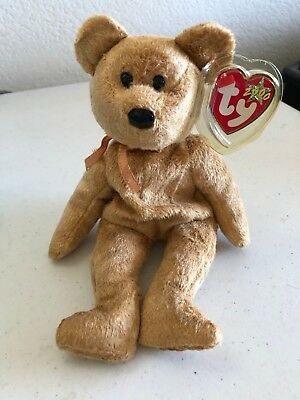 c522fac573a Ty Beanie Babies 2000 Cashew Bear New Plush Stuffed Toy Retired MWMT