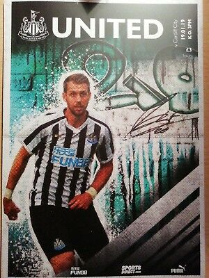 *Footpall Programme* Newcastle United v Cardiff City 19/01/2019