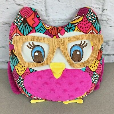 Girl Scout Owl Plush Little Brownie Bakers 100 Years Cookies Pillow glasses