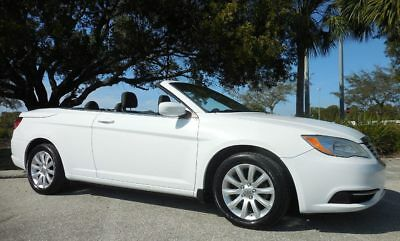 "2012 Chrysler 200 Series Bright White Touring Convertible~58,515 Miles Rust Free Florida LOW MILE Ragtop~Great Color~17"" Alloy Wheels~Sebring"