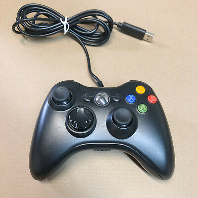 Xbox 360 Wired USB Gamepad Remote Controller For Microsoft X360 Console - Black