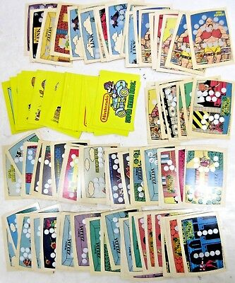 1989 Topps Nintendo GAME PACK Singles - 98 Total- 20 Stickers + 78 Scratch Offs