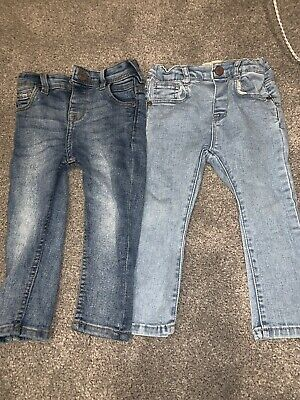 Two Pair Boys Skinny Jeans 12-18 Months