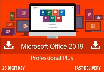 MS Office 2019 Professional Plus Genuine Activation License Key -32/64Bit for PC
