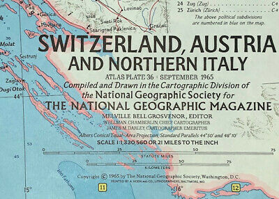 Map Of Northern Italy And Austria.Vintage Switzerland Austria Northern Italy Map National