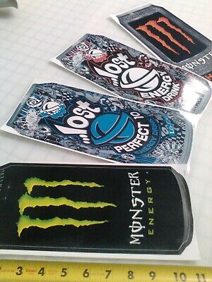 "Monster Energy Drink Lost Large Can Sticker 11""h x 4""w each"