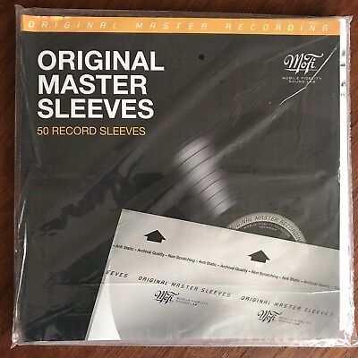 Mobile Fidelity 50 Inner Sleeves Msfl Original Master Sleeves Mofi Audiophile