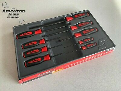 *NEW* Snap On 9-pc Red Metric Ball Hex Instinct® Screwdriver Set SGABM900BR