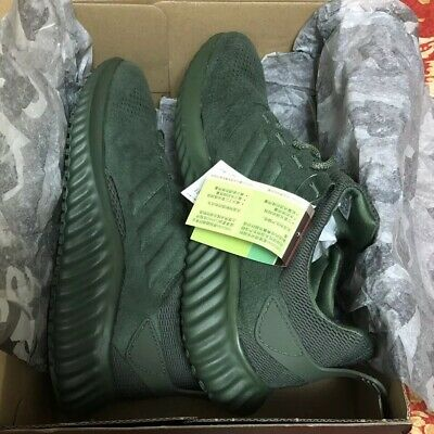 4c35c9b89 Adidas Alphabounce CR Mens CG4572 Base Green ForgedMesh Running Shoes Size 9