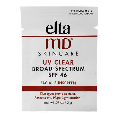 Fresh Elta MD UV SPF 46 Sunscreen Clear 40 SAMPLES pack expires 03/21 Free ship