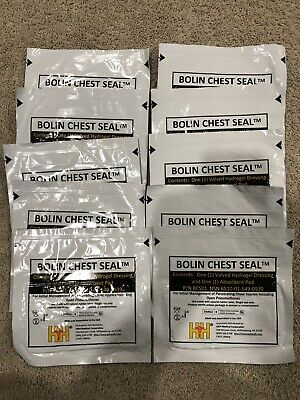 LOT OF 10 IFAK Medical Bolin Chest Seal Sterile Occlusive Direct Wound H&H
