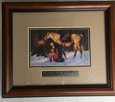 The Prayer at Valley Forge framed reprint by Arnold Friberg