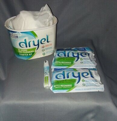 Dryel At Home Dry Cleaning Starter Kit Clean Breeze Scent Cleans With Steam