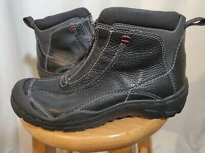 CLARKS MUCKERS MENS Black Leather Waterproof Ankle Boots Shoes 82350 size 7 M