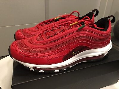 f52dffa490cf63 Nike Air Max 97 CR7 Portugal Red Patchwork Cristiano Ronaldo AQ0655-600  Size 9