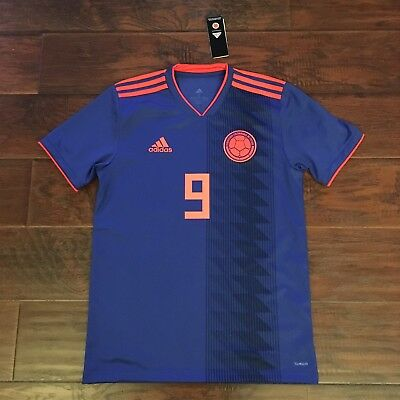 1c44fc8c1 2018 Colombia Away Jersey  9 Falcao Small ADIDAS World Cup Soccer S S NEW