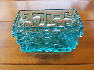 Vintage Blue vaseline glass Vase