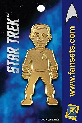 Star Trek CAPT KIRK 50th GOLD Licensed FanSets MicroCrew Collector's Pin