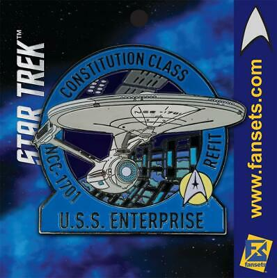Star Trek MicroFleet REFIT USS ENTERPRISE 1701 Licensed FanSets Collector's Pin
