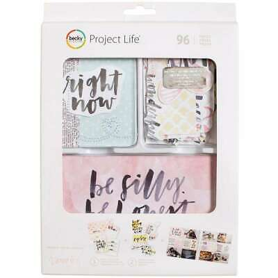 Project Life Value Kit 96/Pkg-Inspired W/Stitching & Die-Cuts 718813805537