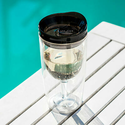 NEW TraVino spillproof wine sippy cup in black by Alcoholder