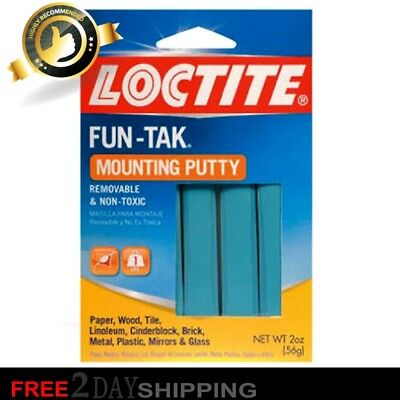 Loctite 1087306 Fun-Tak Reusable Removable Non-Toxic Mounting Putty Adhesive