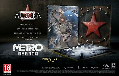 Metro Exodus Aurora Limited Edition New Pal Xbox One Collector's Steelbook