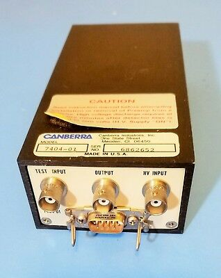 Canberra Model 7404-01 Spectroscopy PreAmp for NIM  UNTESTED