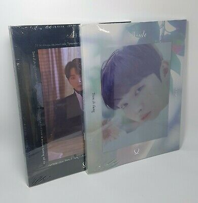 YOON JI SUNG WANNA ONE 1st Mini Album [Aside] 2Ver SET CD+P.Book+P.Card+Sticker
