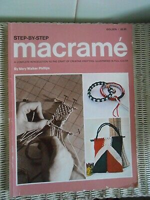 STEP-BY-STEP MACRAME Complete intro to the craft of creative knotting 1977 vtg