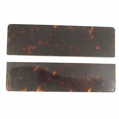 Cellulose Acetate Knife Scales (pair) - Tortoiseshell, 165 x 44mm, 10mm thick