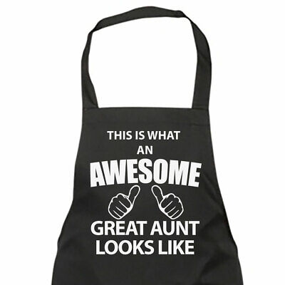 This Is What An Awesome Great Aunt Looks Like Black Apron Novelty Gift Chef Hous