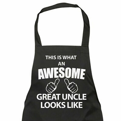 This Is What An Awesome Great Uncle Looks Like Black Apron Novelty Gift Chef Hou