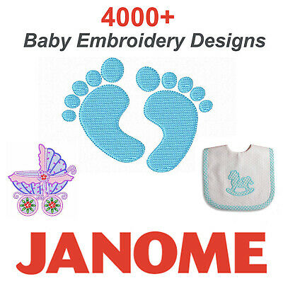 Baby Embroidery Designs 4000+ JEF / Janome Format on CD