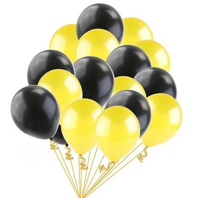 Yellow and Black Latex Balloons helium air quality ALL birthday wedding ceremony
