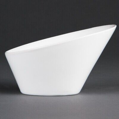 Olympia Whiteware Oval Sloping Bowls 203 x 185mm