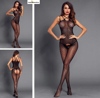 Hot Reizwäsche Fishnet Body Stocking Catsuit Netz Body Unterwäsche |H| 790028-2