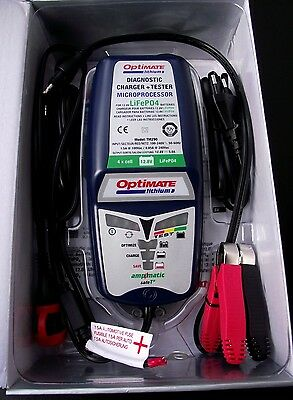 Optimate Batterie Lithium-Ion Chargeur - 12V,5A - LiFePO4 Lfp , TM290, Neuf
