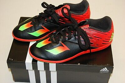 adc748970 ADIDAS MESSI 15.3 IN INDOOR FUTSAL YOUTH SOCCER SHOES Core Black Neon  Green Inf