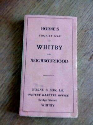 Horne's Tourist Map. Whitby Vintage, Retro