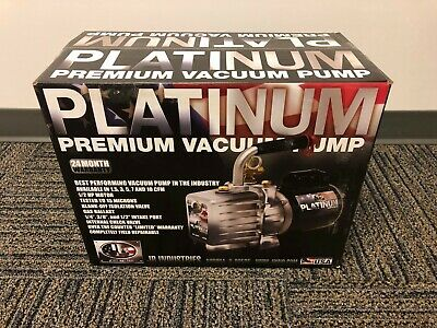 JB Industries DV-200N 7 CFM 2 Stage Platinum Vacuum Pump - New Sealed